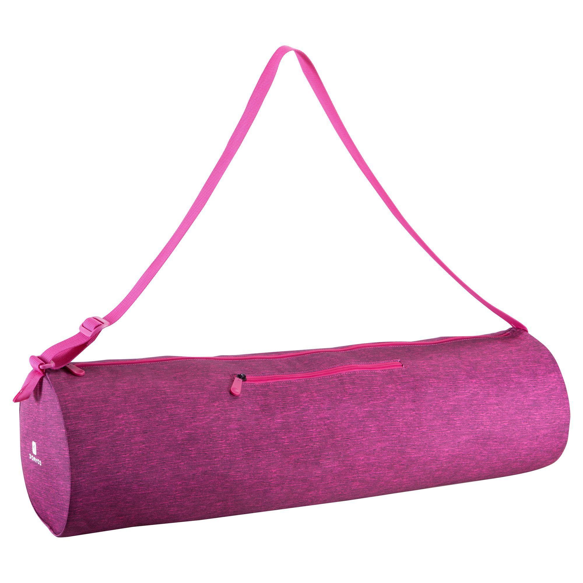 Sac tapis de yoga rose