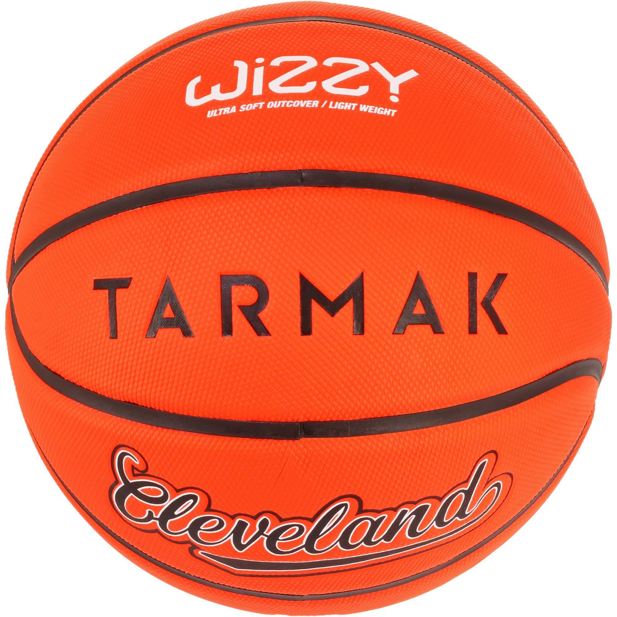 Ballon de basket enfant Wizzy Cleveland orange taille 5.