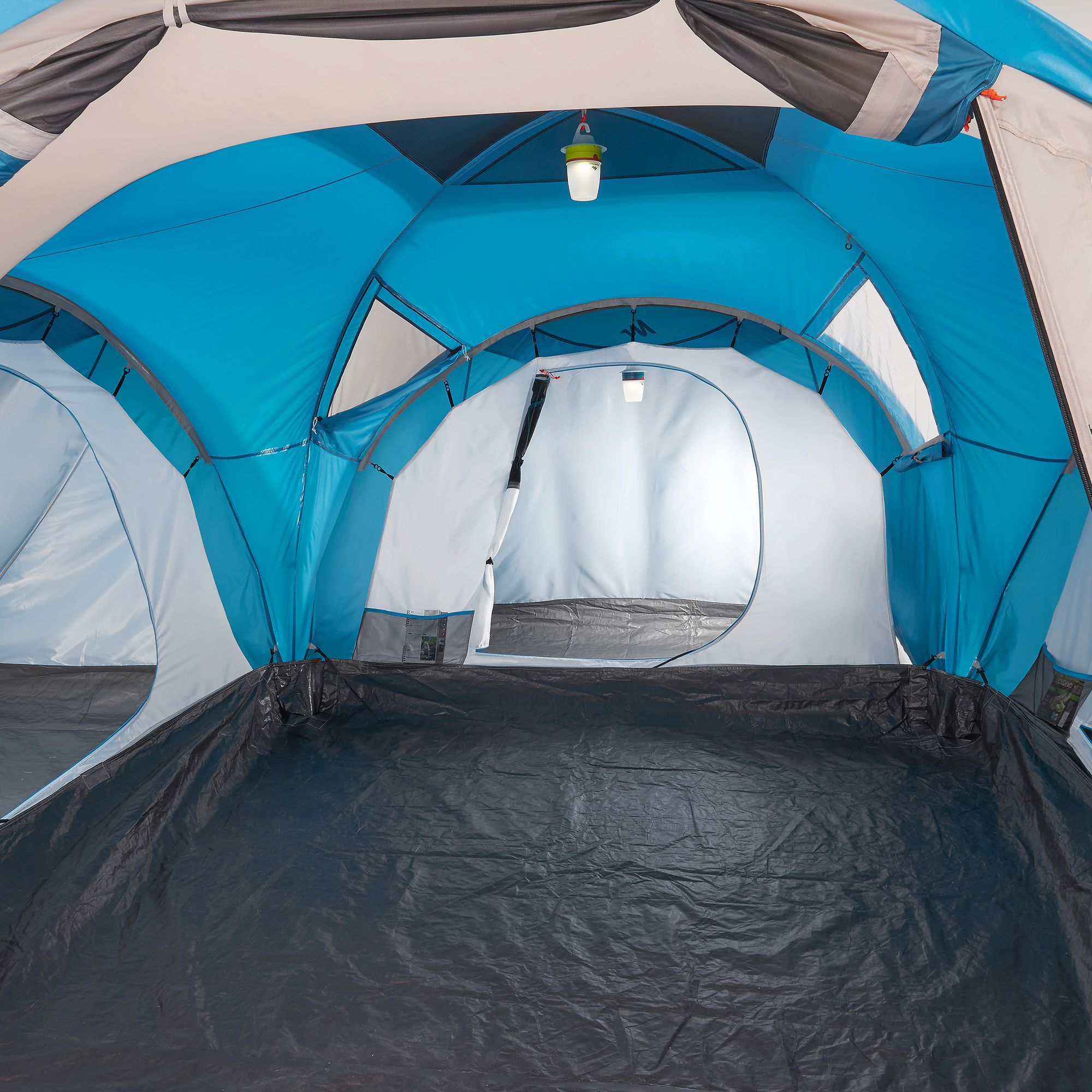 Tente de camping familiale arpenaz 6 3 i 6 personnes for Tente 6 places 3 chambres