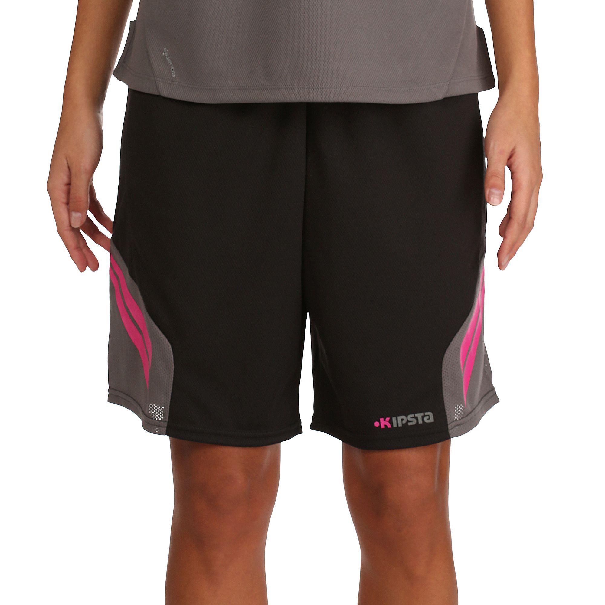 Short de basketball Evo femme gris et rose