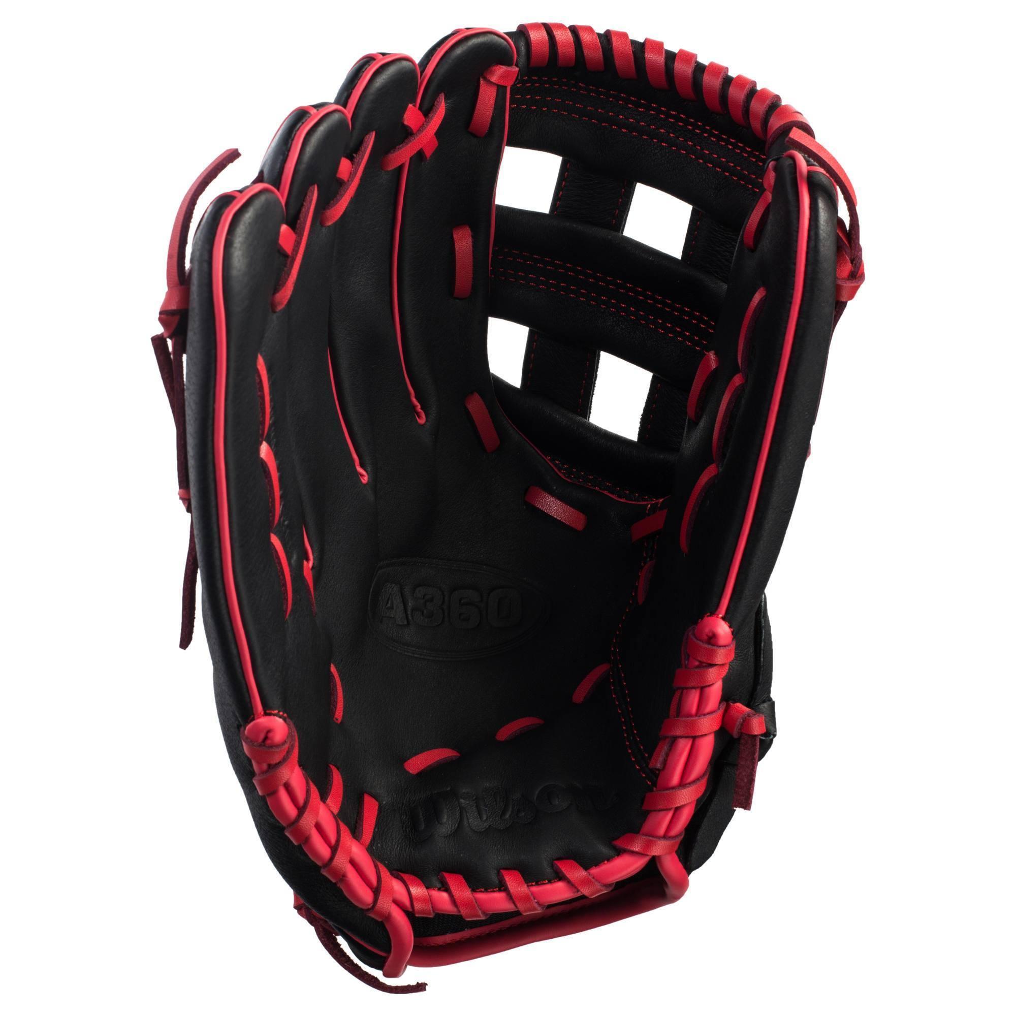 gant de baseball a360 main droite 12 pouces noir rouge. Black Bedroom Furniture Sets. Home Design Ideas