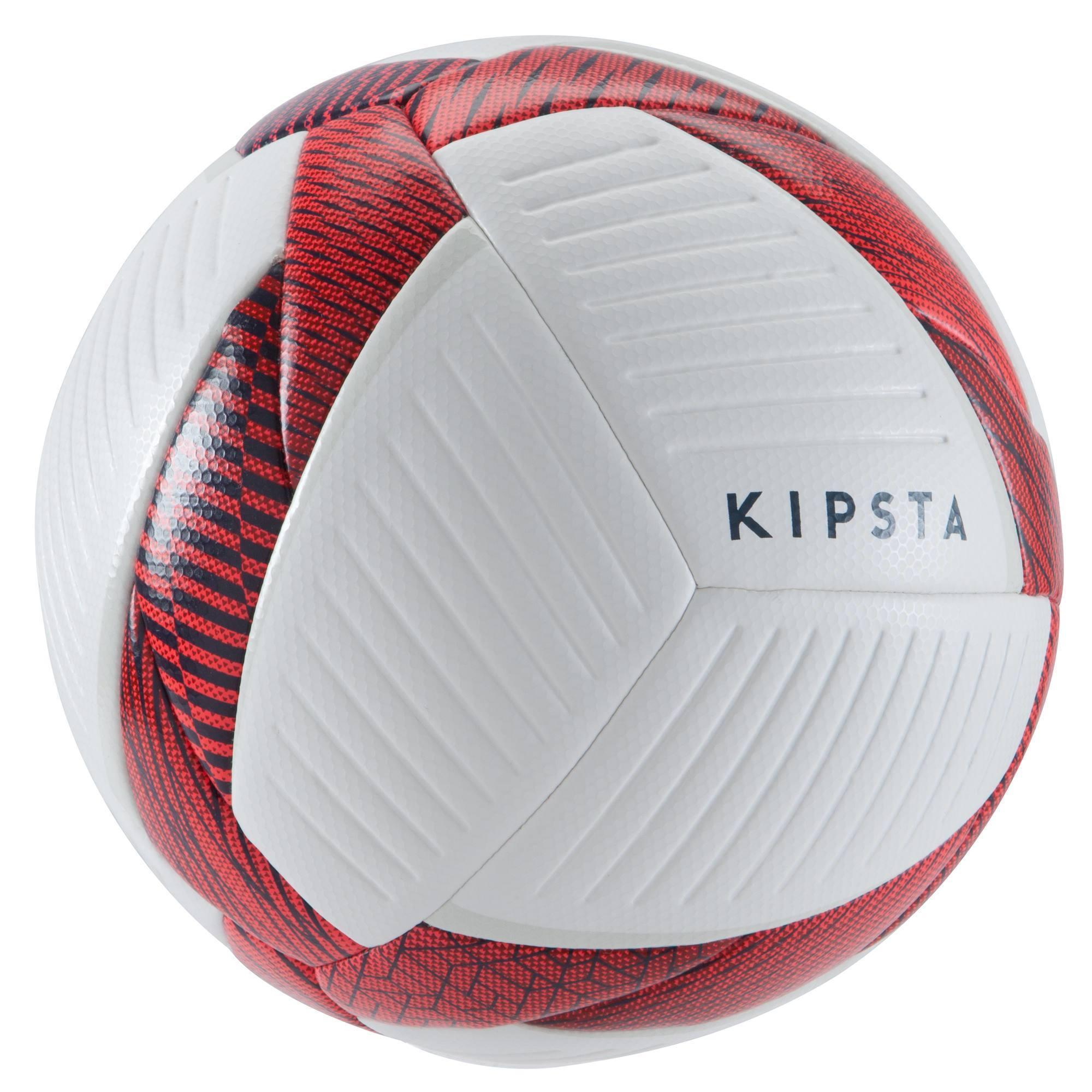 Ballon de Futsal 500 Hybride 63cm blanc et rouge