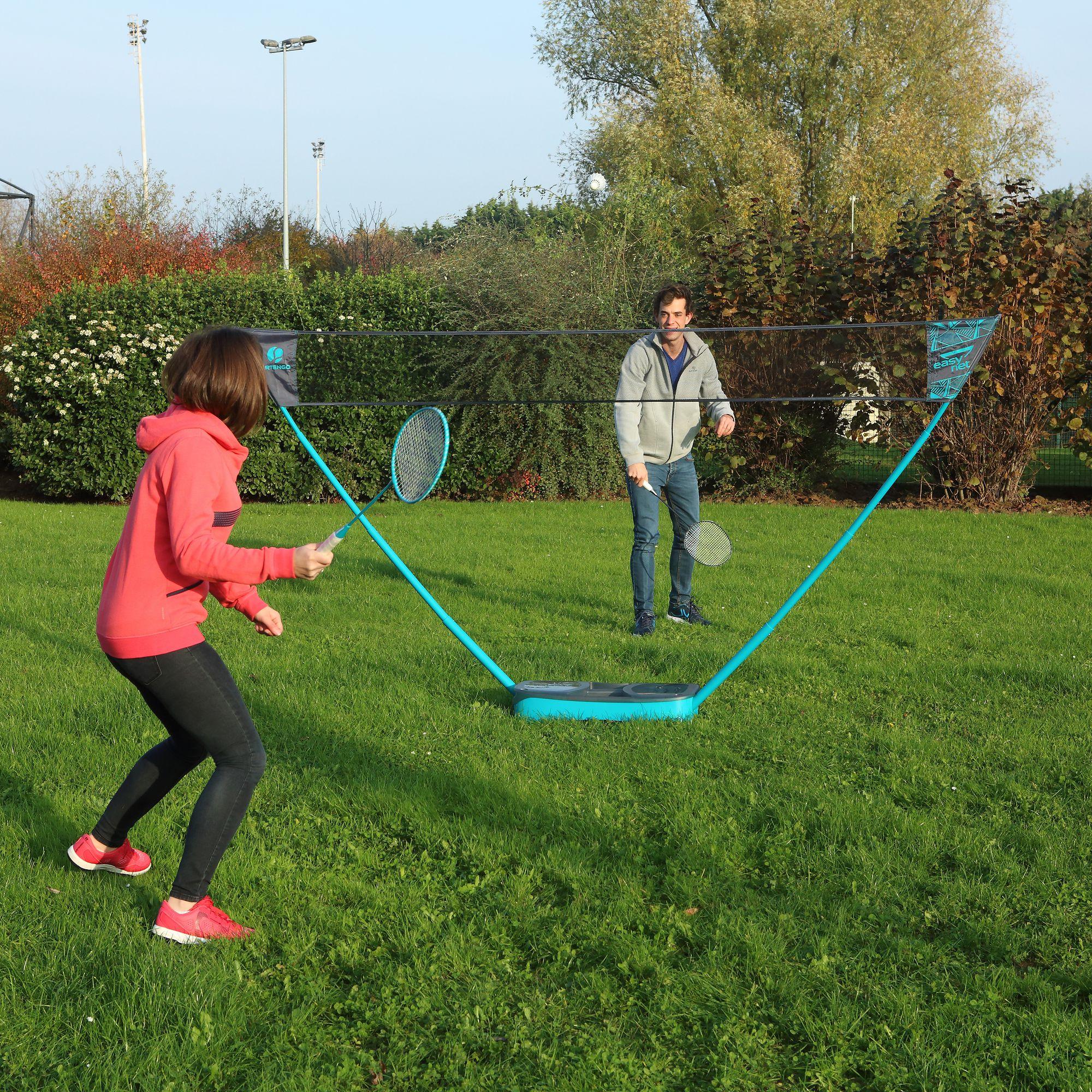 Filet de badminton easy set 3m grey green clubs collectivit s decathlon pro - Jeux plein air decathlon ...
