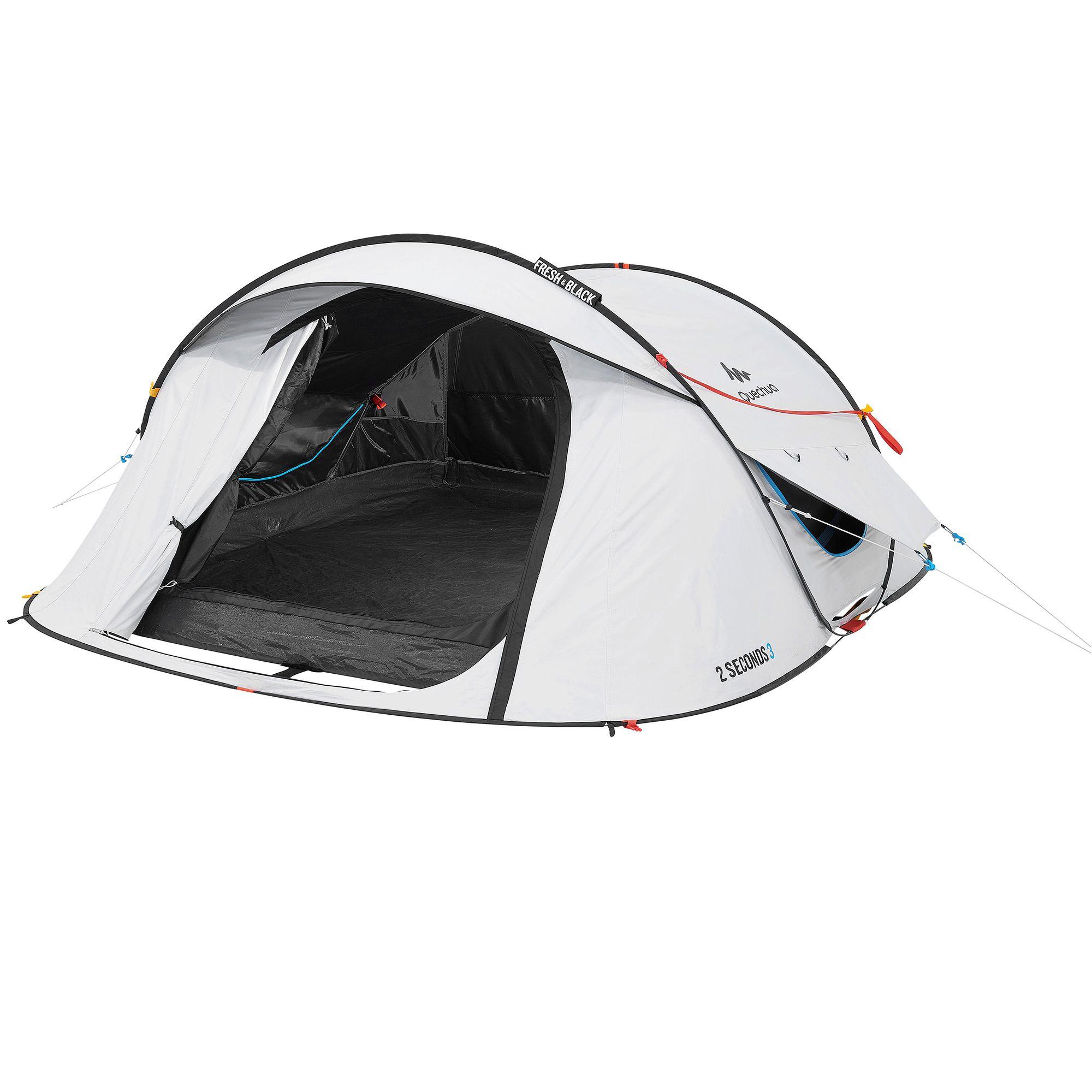 Tente de camping 2 seconds easy 3 personnes fresh&black