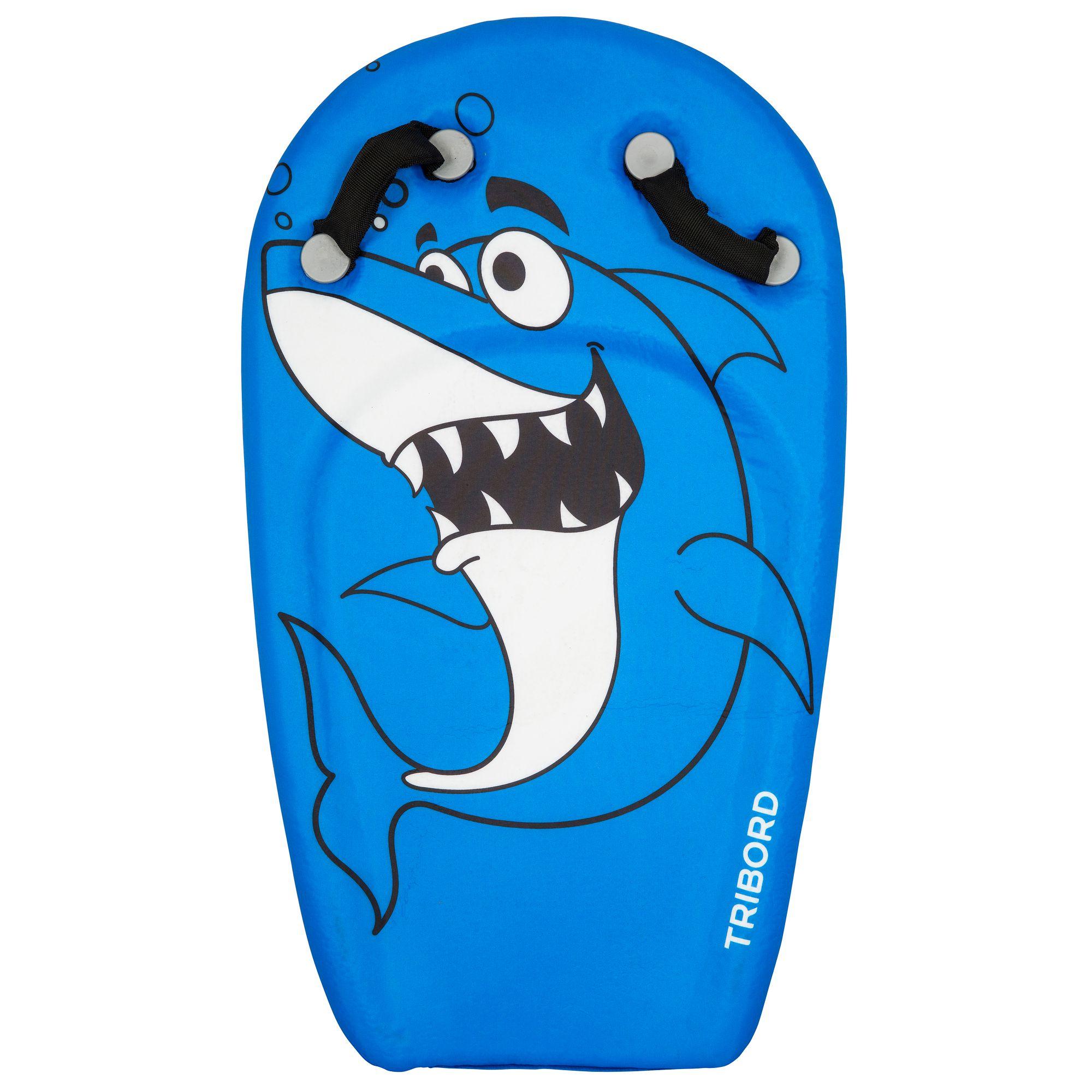 Bodyboard BODYATU enfant 4-8 ans requin bleu poignées