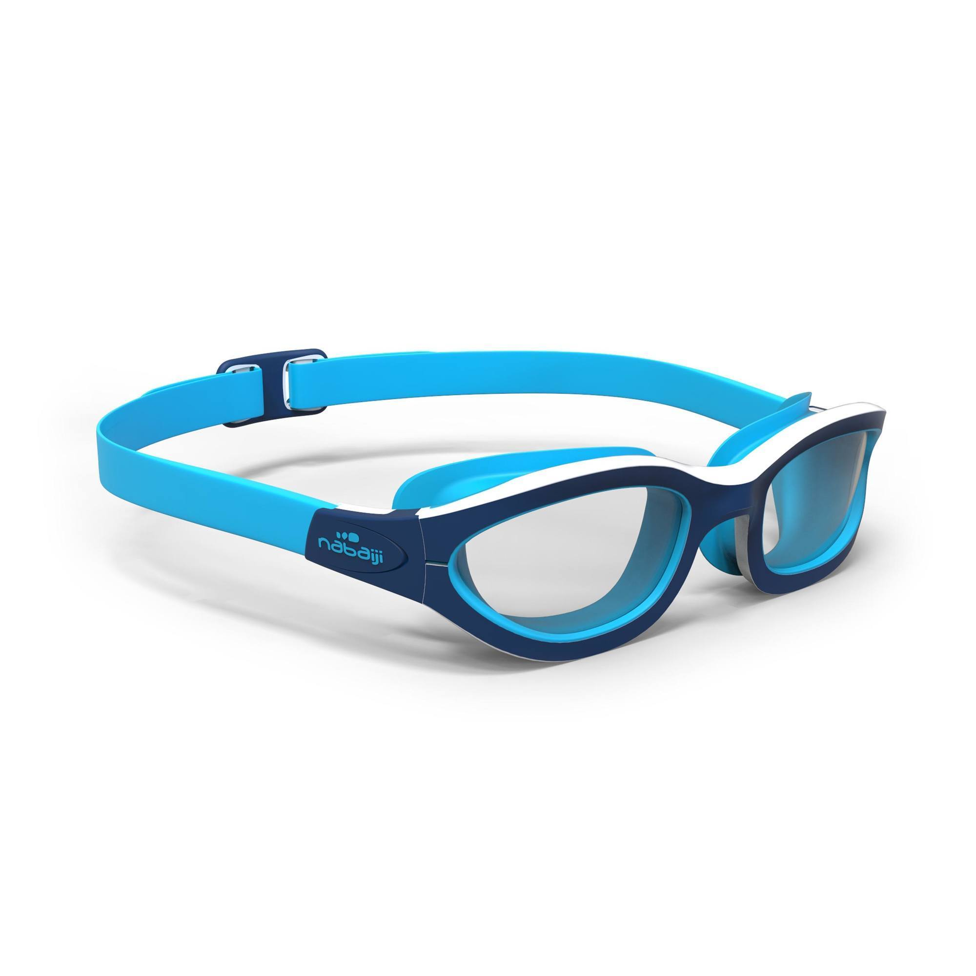 Lunettes de natation EASYDOW Taille S bleu blanc