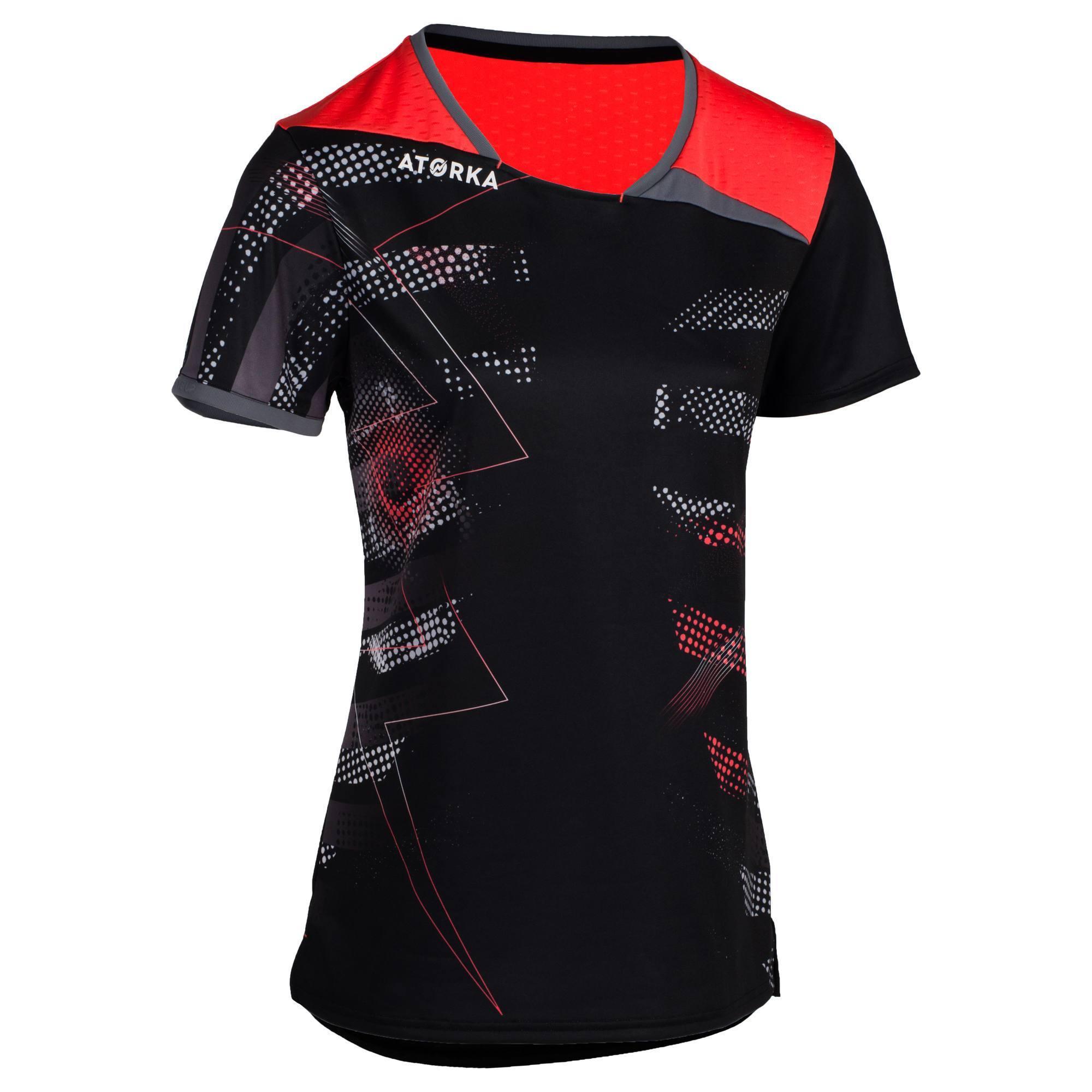 Maillot de handball H500 noir et rose