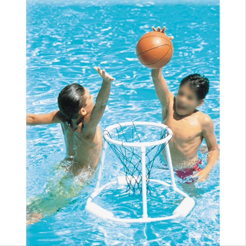 Panier de basket flottant avec ballon pour la piscine for Panier de basket pour piscine