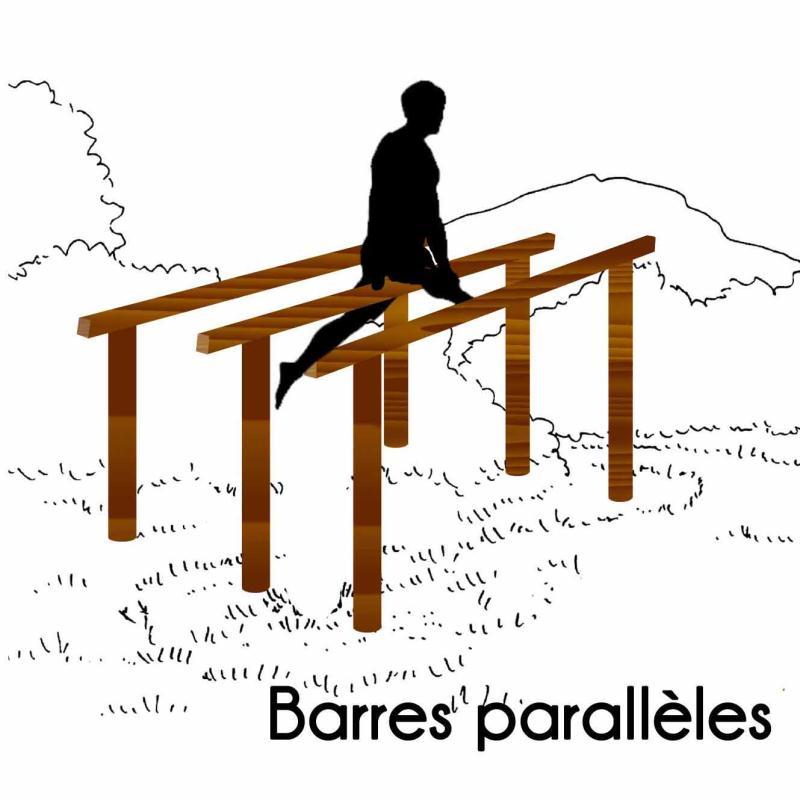 BARRES PARALLÈLES MODULE PARCOURS SPORTIF