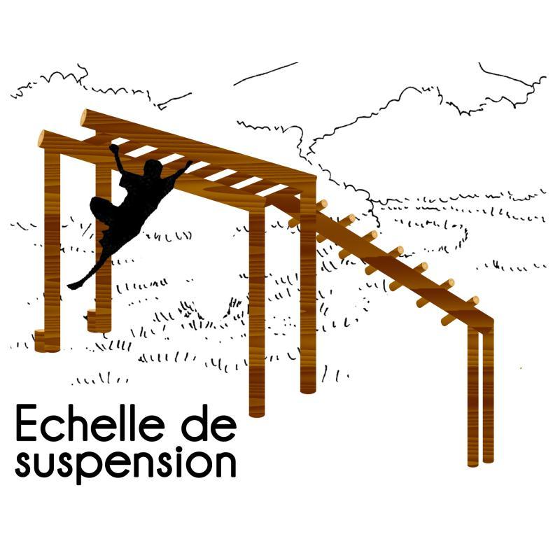 ECHELLE DE SUSPENSION INCLINÉE MODULE PARCOURS SPORTIF