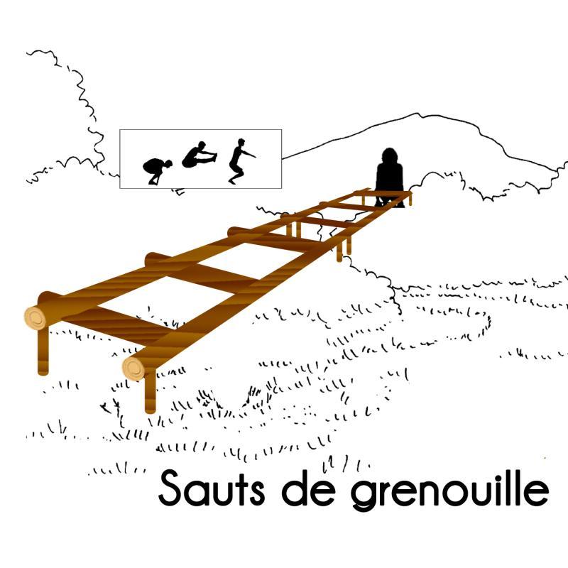 SAUTS DE GRENOUILLE MODULE PARCOURS SPORTIFS