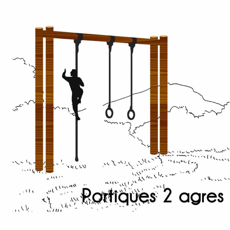 PORTIQUE 2 AGRÉS MODULE PARCOURS SPORTIF