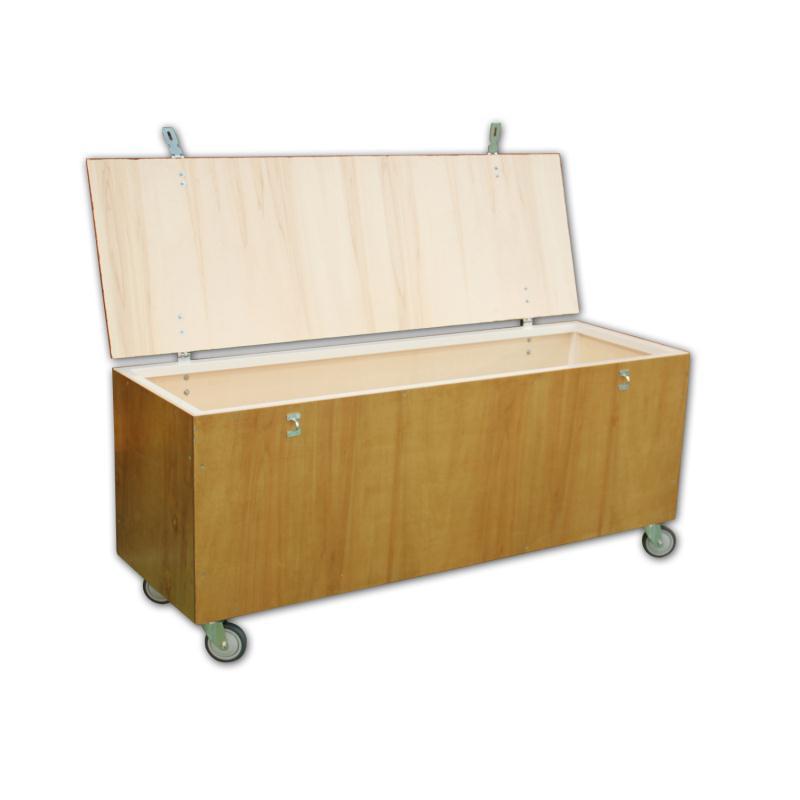 coffre rangement bois sur roulettes clubs collectivit s decathlon pro. Black Bedroom Furniture Sets. Home Design Ideas