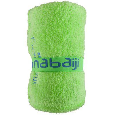 Serviette microfibre verte ultra compacte taille L 80 x 130 cm