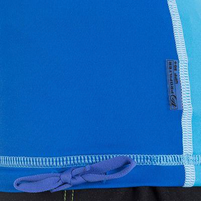 TOP anti-UV Manches Courtes Enfant Ride Bleu