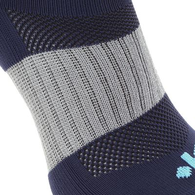 Chaussettes hautes rugby adulte Full H 500 bleu anthracite