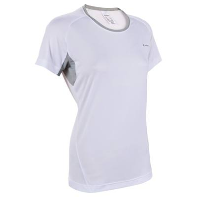 T-Shirt manches courtes randonnée Techfresh 50 femme blanc