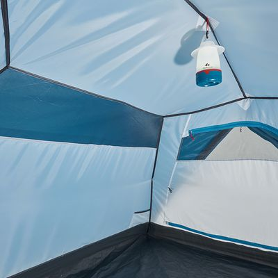 Tente de camping arpenaz 3+ 3 personnes et espace de rangement