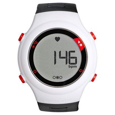Montre et ceinture cardiofréquencemètre ONRHYTHM 110 blanche et noire