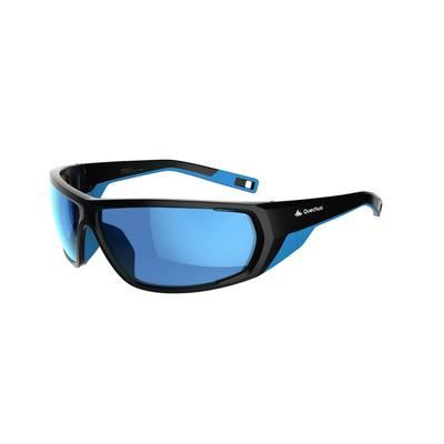 555570140f6074 Lunettes de soleil de randonnée adulte MH570 noires   bleues catégorie 4