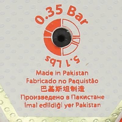 Ballon de handball adulte H500 taille 3 rouge blanc