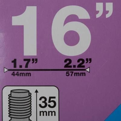 "CHAMBRE A AIR 16"" SECTION 1,7 A 2,2 VALVE SCHRADER"