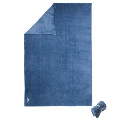 Serviette microfibre ultra douce grise taille L 80 x 130cm