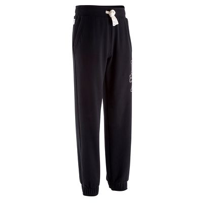 Pantalon regular homme musculation noir