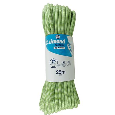 CORDE D'ESCALADE INDOOR ROCK 10MM X 25M VERTE SIMOND