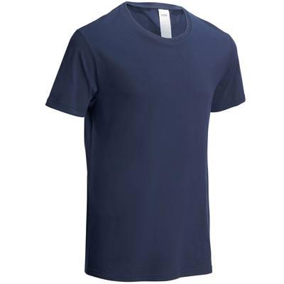 T-Shirt Sportee 100 regular Pilates Gym douce homme bleu marine