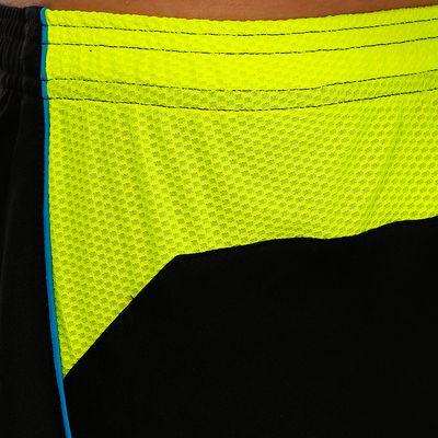 Short de football adulte F500 noir jaune