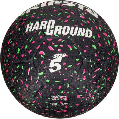 Ballon de football Hardground taille 5 noir vert rose