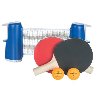 SET TENNIS DE TABLE FREE ROLLNET SMALL + 2 RAQUETTES + 2 BALLES
