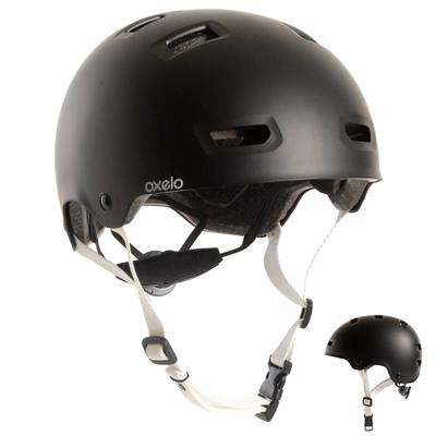 Casque roller skateboard trottinette MF500 noir