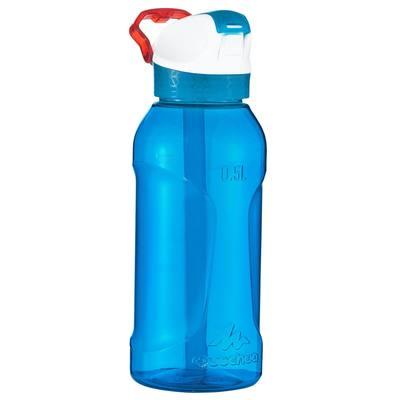 Gourde randonnée 900 bouchon instantané pipette 0,5 L plastique (Tritan) bleu