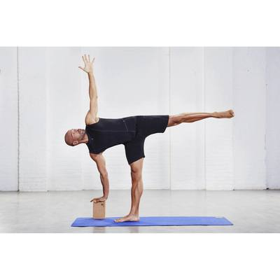 Brique yoga en mousse gris foncé