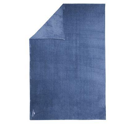 Serviette microfibre ultra douce grise foncée taille XL 110 x 175 cm