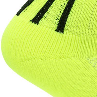 Chaussettes hautes de football adulte F500 jaunes fluos