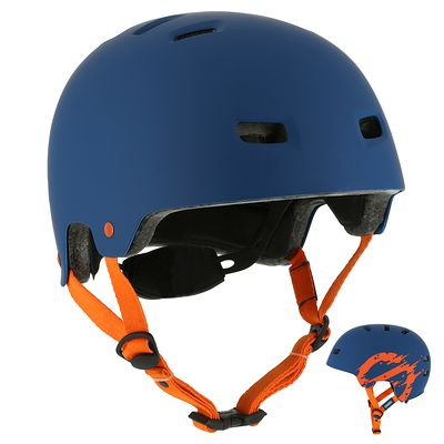 Casque roller skateboard trottinette vélo MF 7 bleu orange
