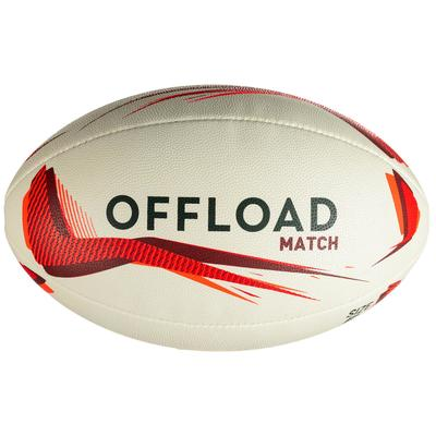 Ballon de rugby R500 taille 5 rouge