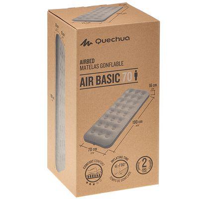 Matelas gonflable de CAMPING / CAMP DU RANDONNEUR AIR BASIC 70 | 1 personne gris