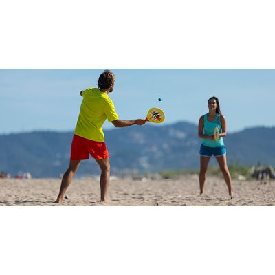 SET DE BEACH TENNIS WOODY SET JAUNE