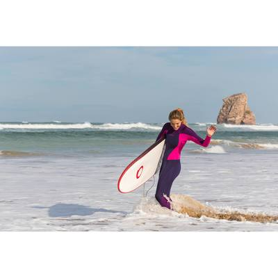 Combinaison Surf 900 Néoprène 3/2 mm Femme Fushia