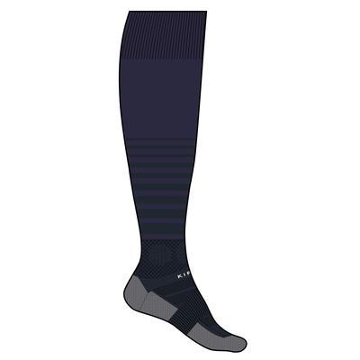 Chaussette de football adulte F500 bleue