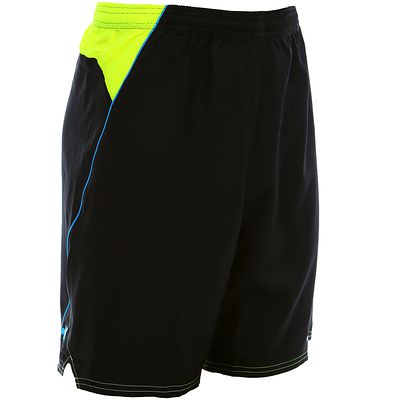 Short football adulte F500 noir jaune