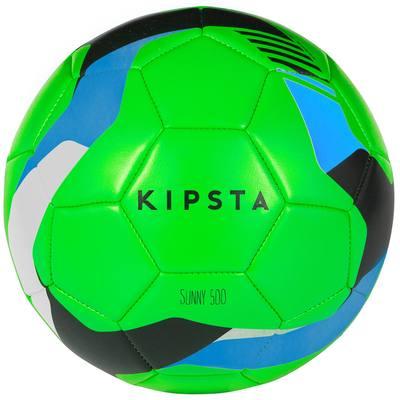 Ballon de Football Sunny 500 taille 5 vert bleu noir