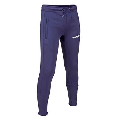 Pantalon entraînement football adulte T500 bleu