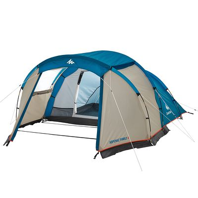Tente de camping familiale arpenaz 4 I 4 personnes bleue