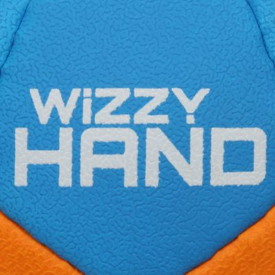 Ballon de handball enfant Wizzy Hand taille 0 bleu clair orange