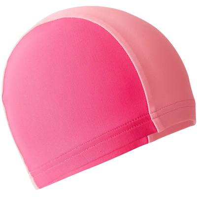BONNET DE BAIN TISSU MAILLE BI COLOR ROSE